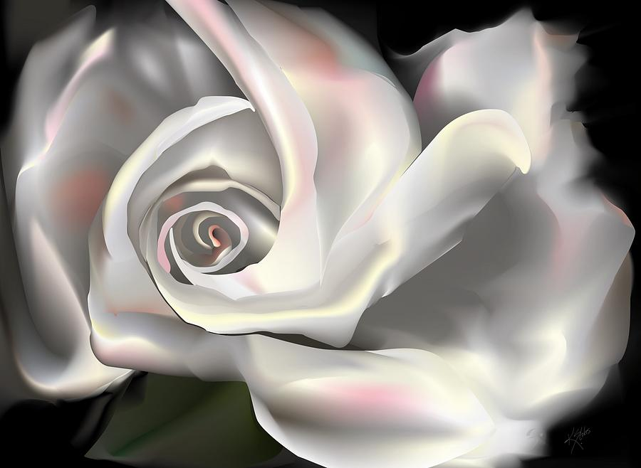 Peace Rose Digital Art  - Peace Rose Fine Art Print