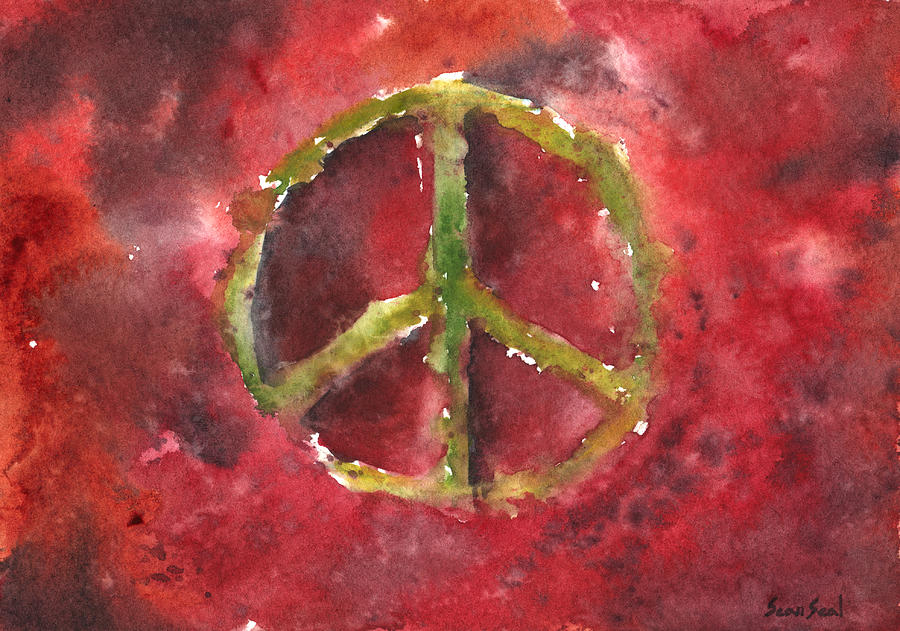 Peace Painting - Peace Sign 61-12 by Sean Seal