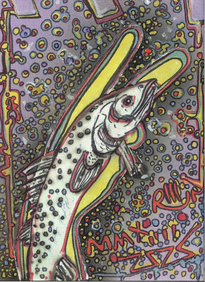 Peace Trout Painting  - Peace Trout Fine Art Print