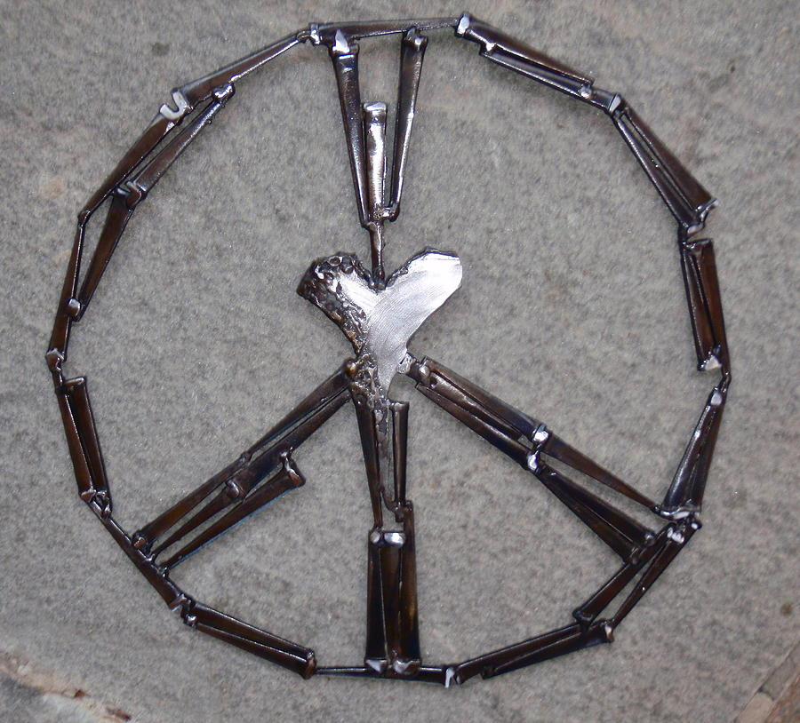 Heart Sculpture - Peaceful Heart by Janet Rutkowski