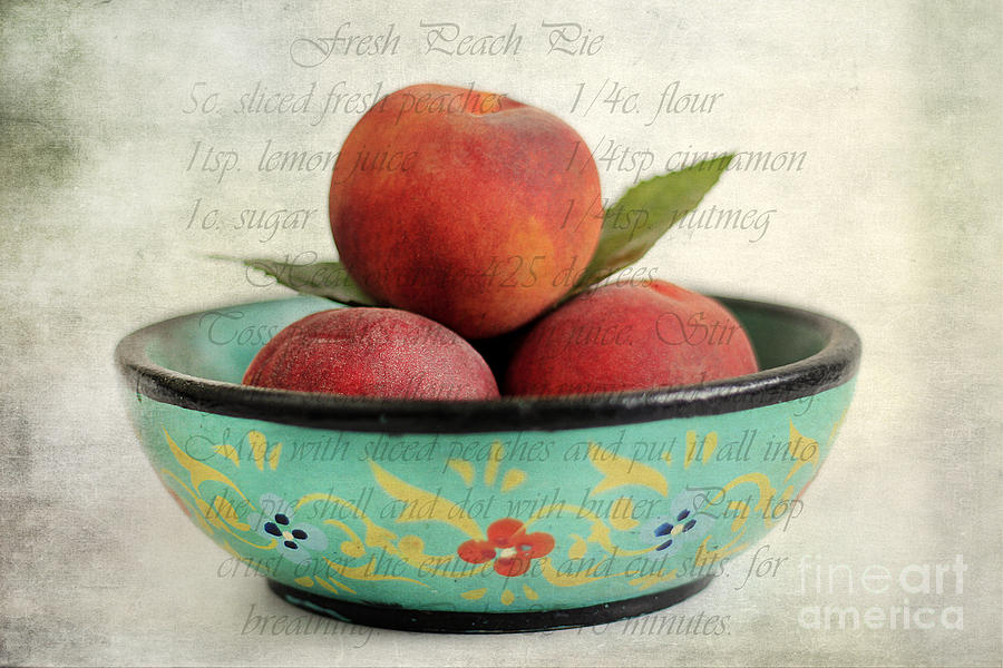 Peach Pie Photograph  - Peach Pie Fine Art Print