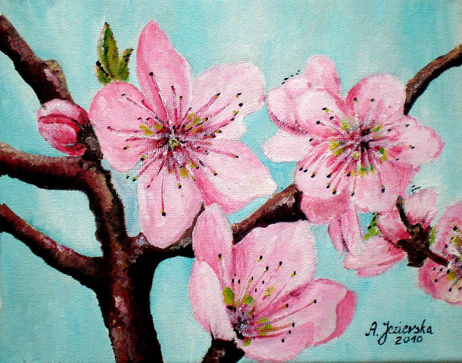 Peach Tree Blossom - Georgia by Agnieszka Jezierska-Drutel