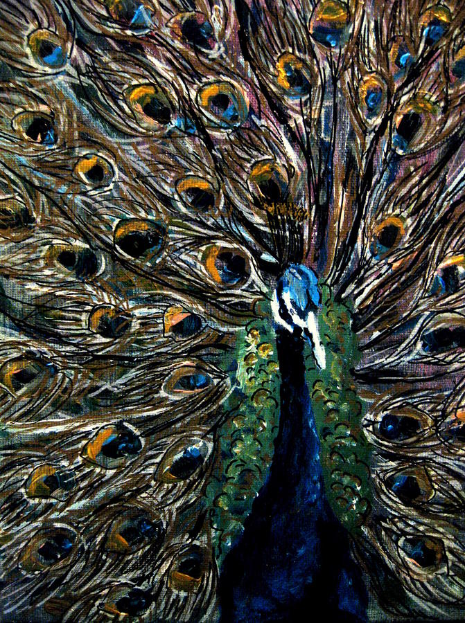 Peacock 2 Painting