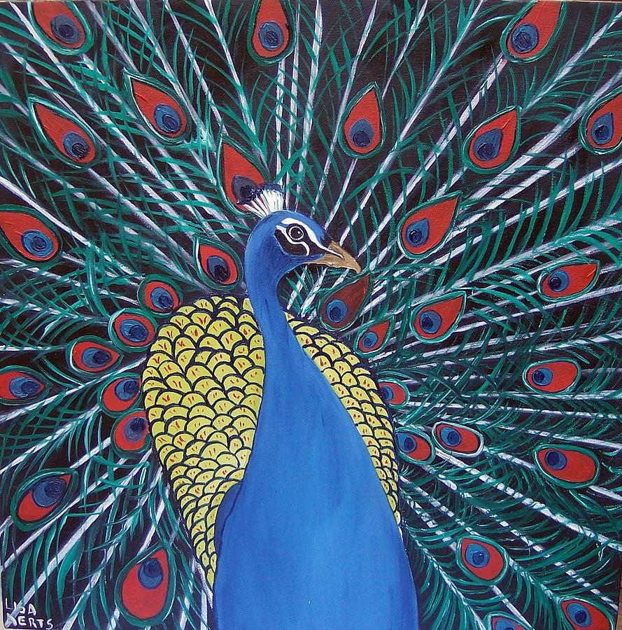 Peacock Blues Painting  - Peacock Blues Fine Art Print