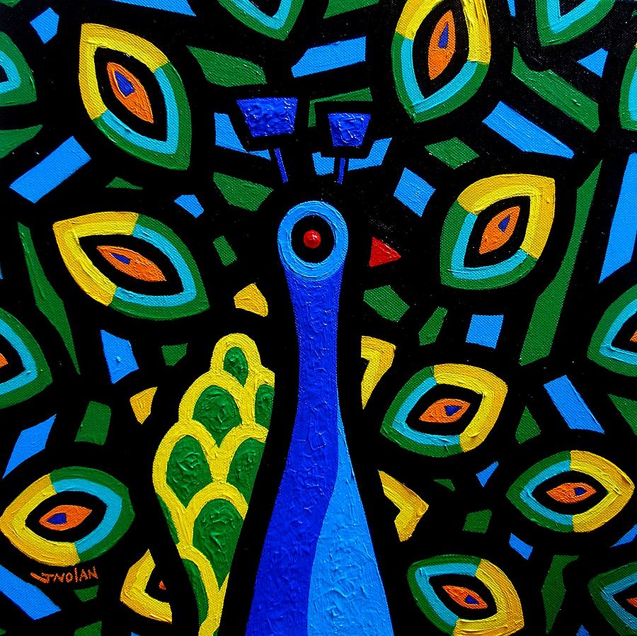 Peacock IIi Painting  - Peacock IIi Fine Art Print