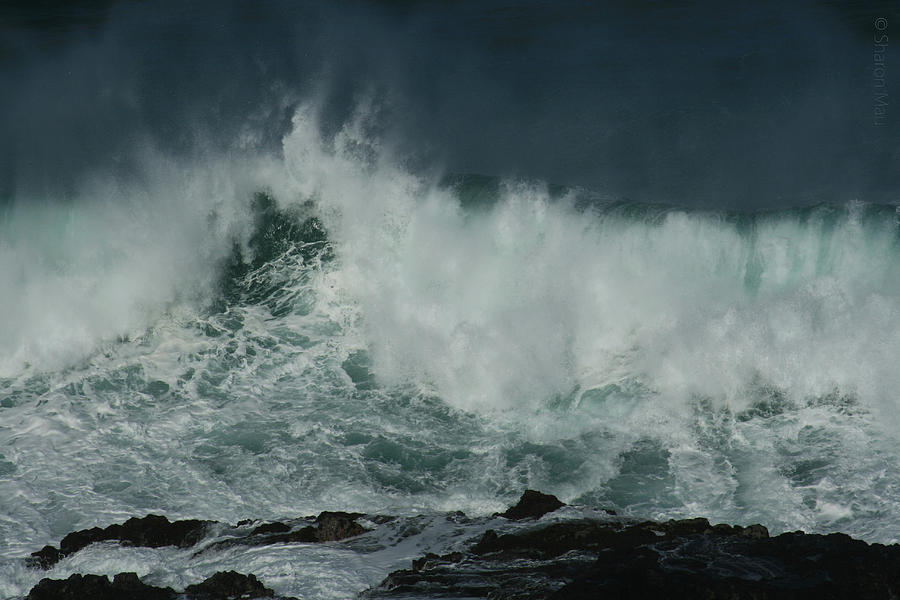 Peahi At Opana Point Pacific Ocean Maui North Shore Hawaii Photograph