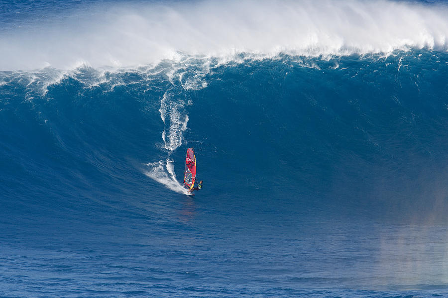 Peahi Windsurfer Photograph  - Peahi Windsurfer Fine Art Print