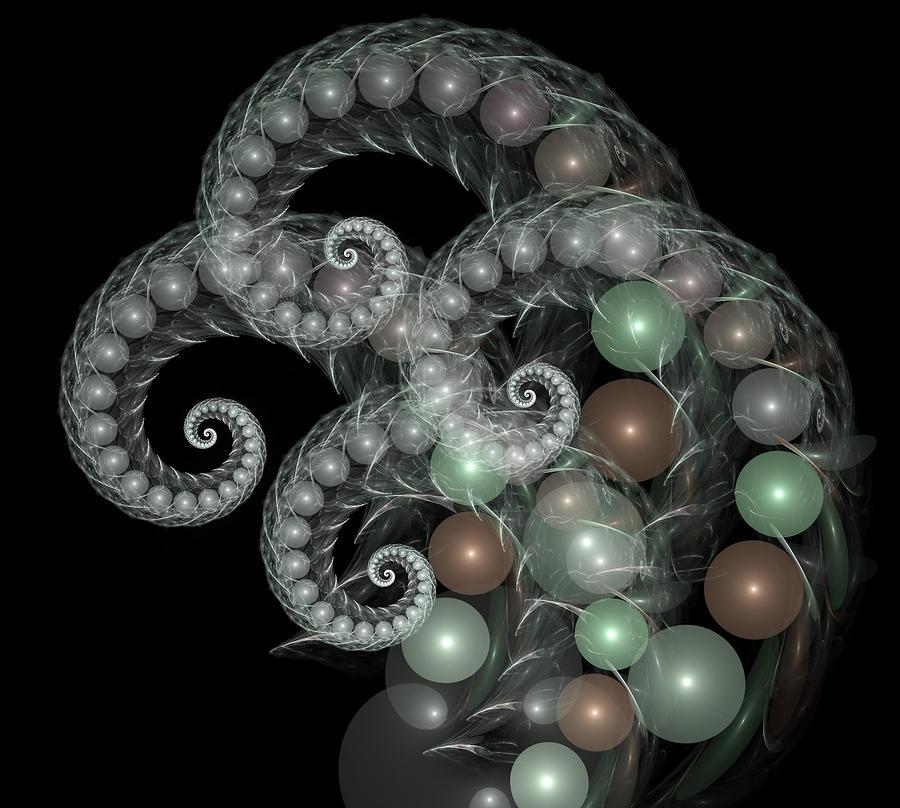 Pearl Curls Digital Art