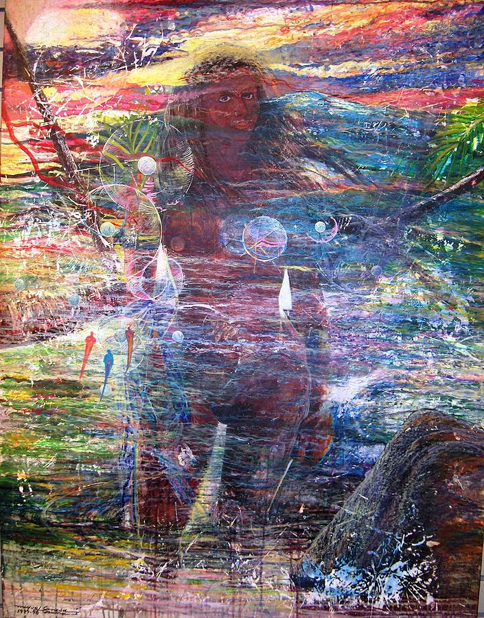 Caribbean Venus Painting - Pearl Od Thw Caribbean - La Perla Del Caribe by Miguel Conesa Osuna