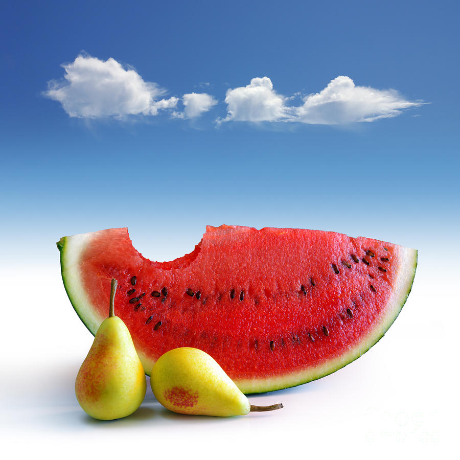 Pears And Melon Photograph