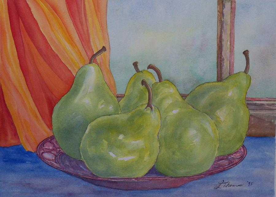 Pears At The Window Painting  - Pears At The Window Fine Art Print