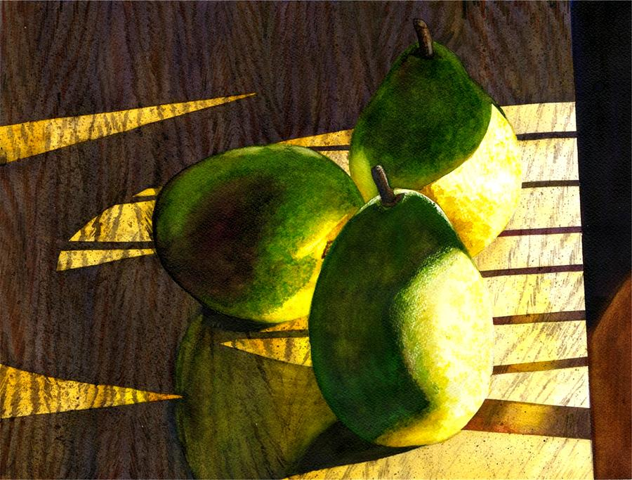Pears No 3 Painting  - Pears No 3 Fine Art Print