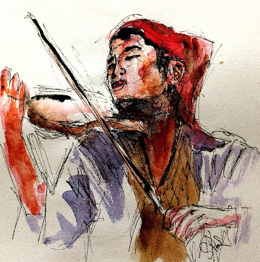 Peasant Violinist Painting