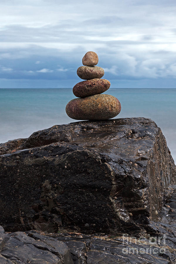 Pebble Sculpture Photograph  - Pebble Sculpture Fine Art Print