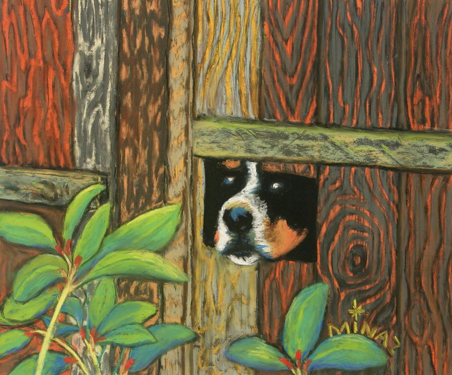 Peek-a-boo Fence Painting