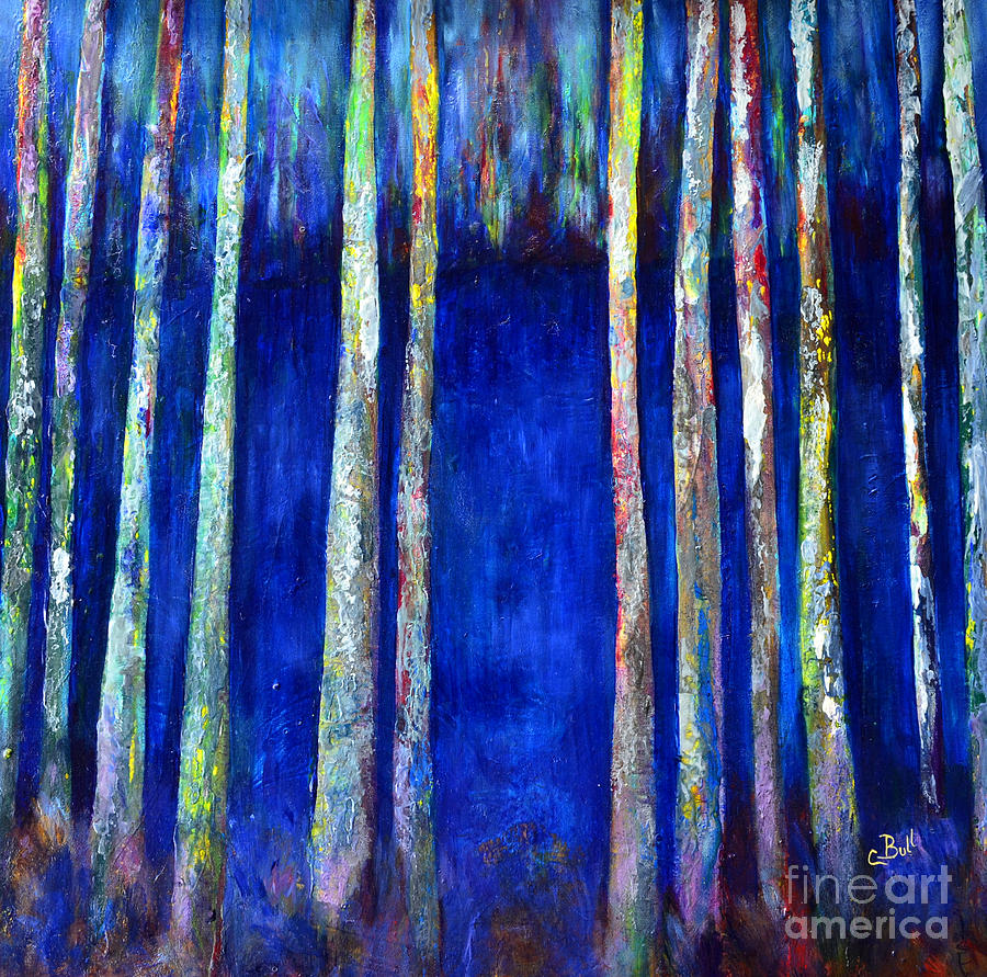 Peeking Through The Trees Painting  - Peeking Through The Trees Fine Art Print