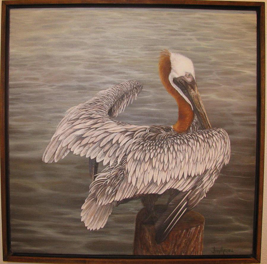 Pelican 3 Brown Painting