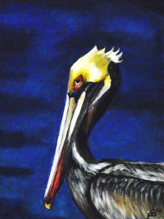 Pelican Portrait Painting