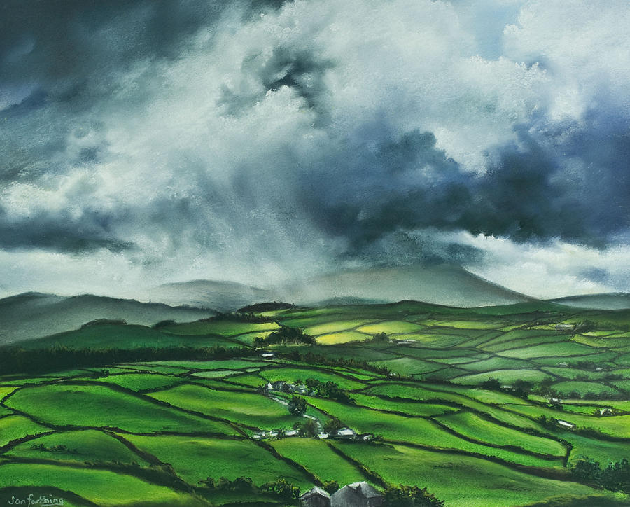 Pendle Hill. Lancashire.england. Painting