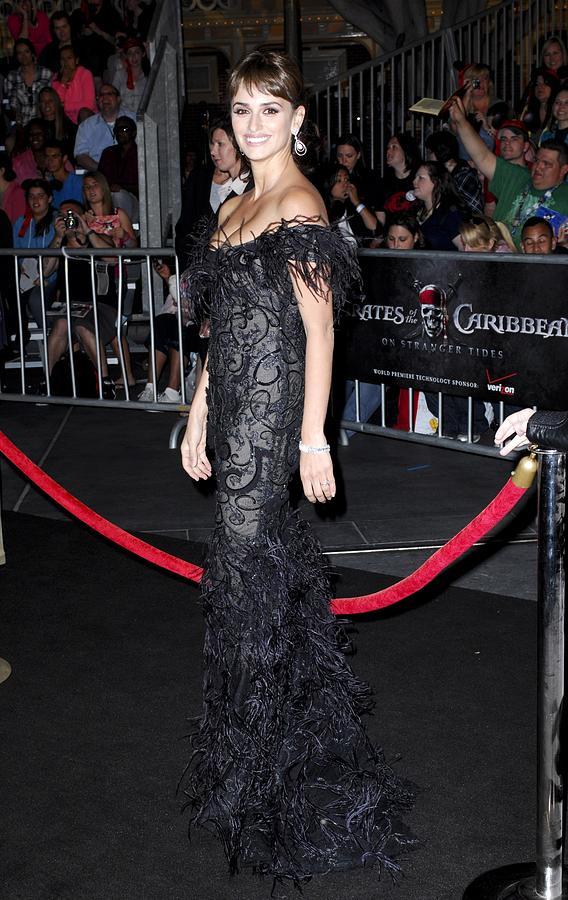 Penelope Cruz Wearing A Marchesa Dress Photograph