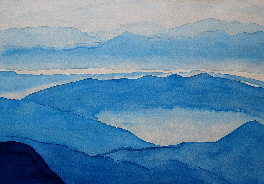 Peninsular Ranges Original Painting Painting  - Peninsular Ranges Original Painting Fine Art Print