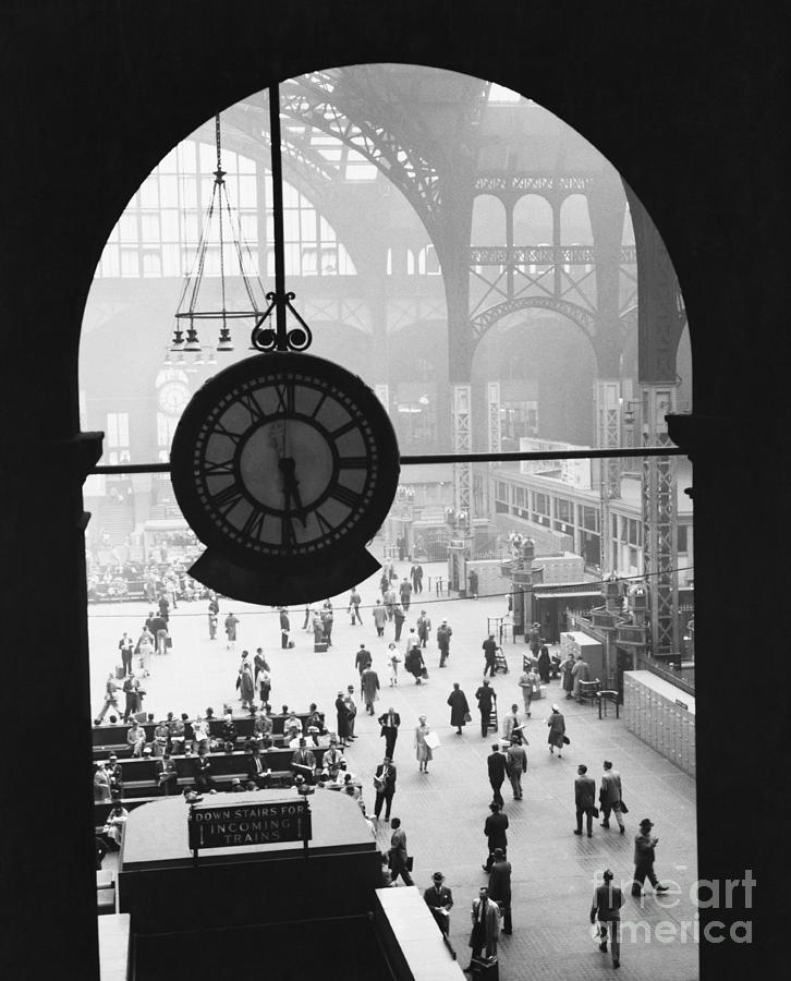 Penn Station Clock Photograph  - Penn Station Clock Fine Art Print