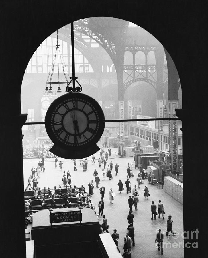 Penn Station Clock Photograph