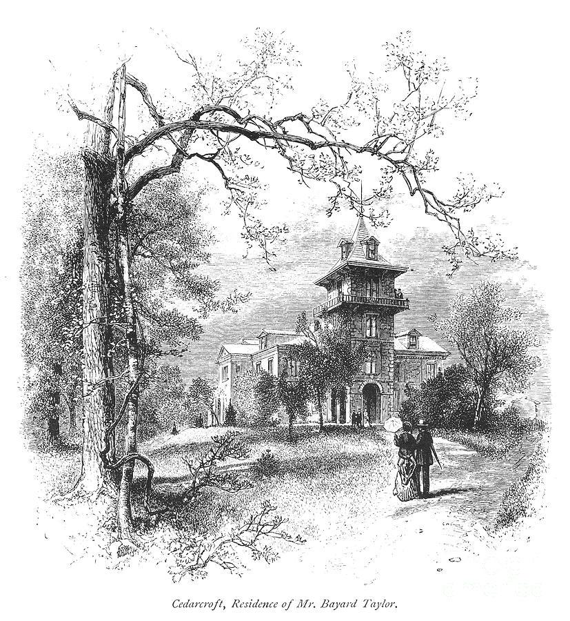 1876 Photograph - Pennsylvania: Mansion by Granger