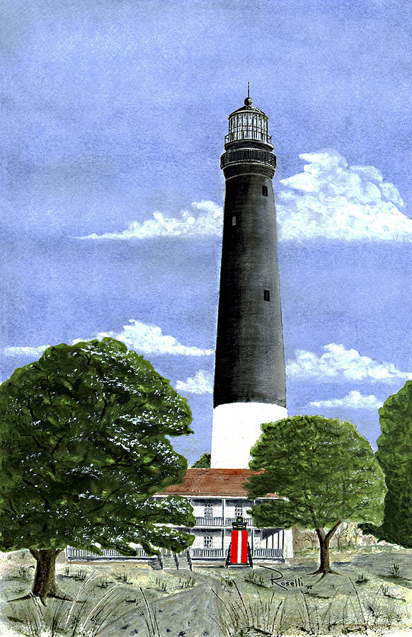 Pensacola Lighthouse Painting  - Pensacola Lighthouse Fine Art Print