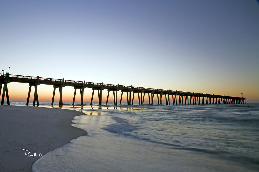 Pensacola Pier At Sunrise 2 Photograph  - Pensacola Pier At Sunrise 2 Fine Art Print