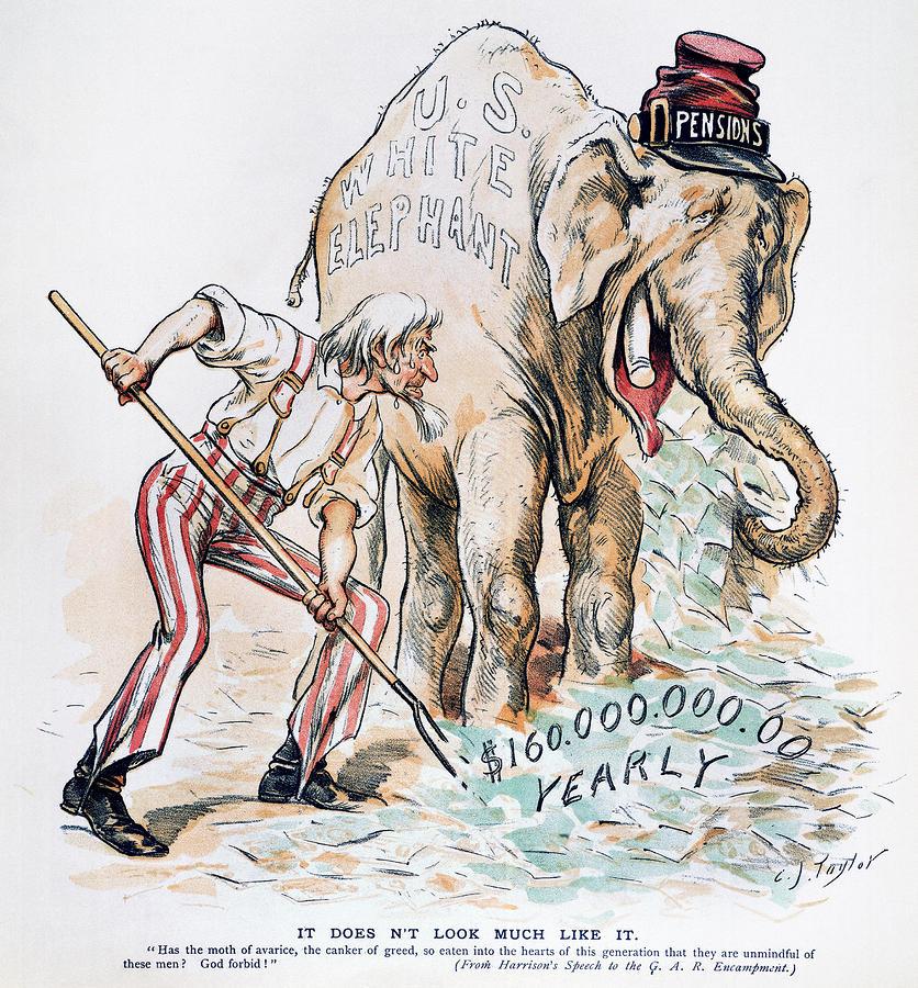 Pension Cartoon, 1893 Photograph