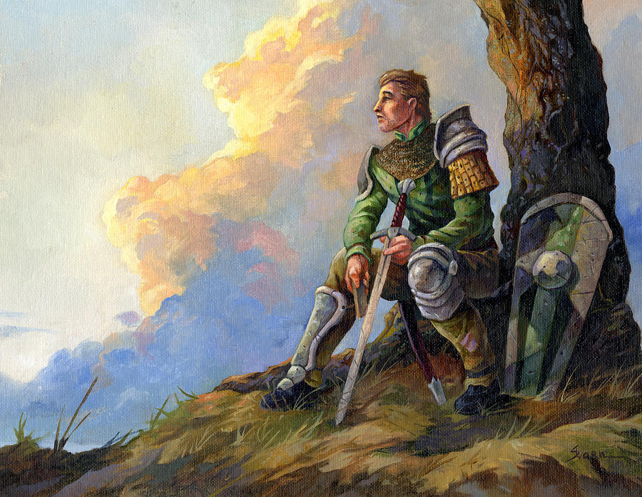 Pensive Knight by Storn Cook: fineartamerica.com/featured/pensive-knight-storn-cook.html