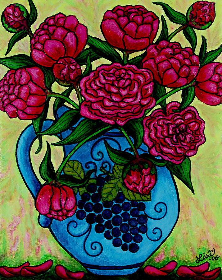 Peony Party Painting