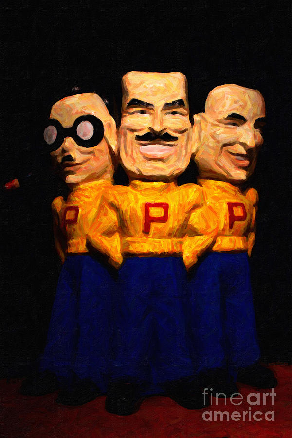 Pep Boys - Manny Moe Jack - Painterly - 7d17428 Photograph  - Pep Boys - Manny Moe Jack - Painterly - 7d17428 Fine Art Print