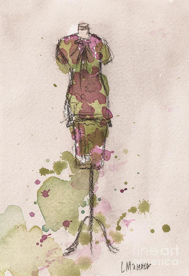 Peplum Dress Painting