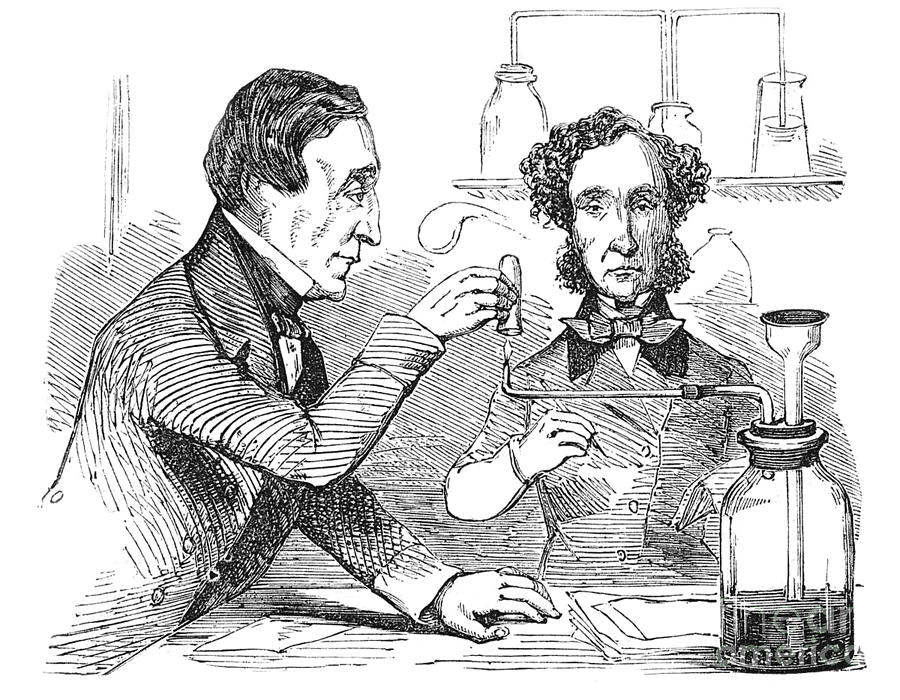 Science Photograph - Performing The Marsh Test, 1856 by Science Source