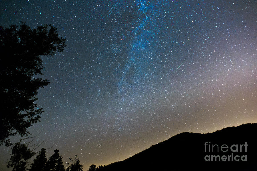 Perseid Meteor Shower Photograph  - Perseid Meteor Shower Fine Art Print