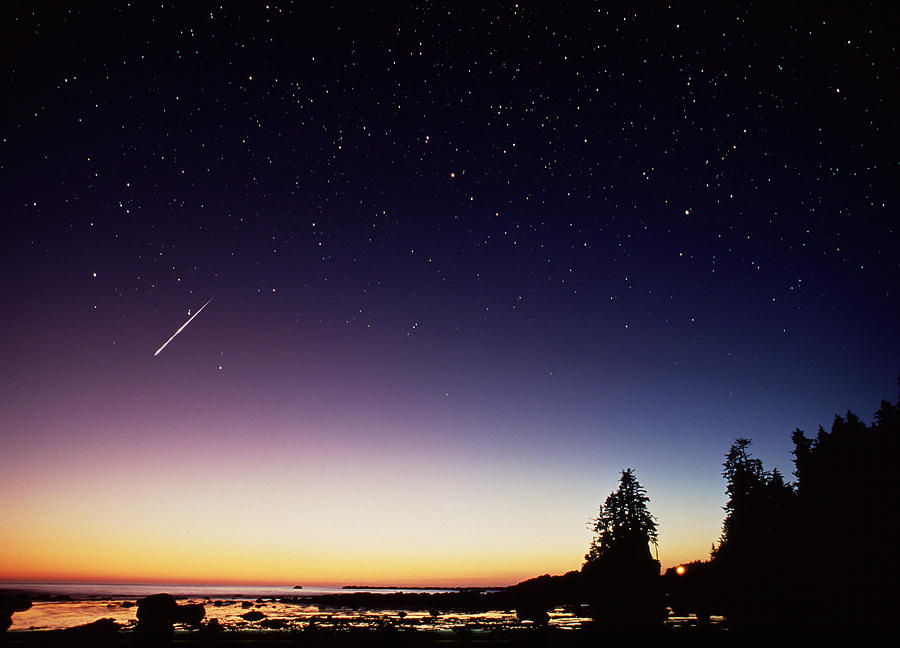 Perseid Meteor Trail Photograph