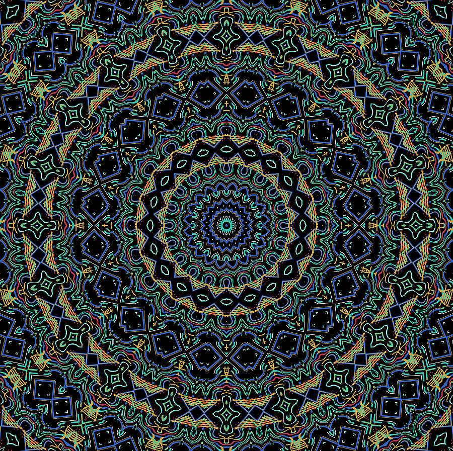 Persian Carpet Digital Art  - Persian Carpet Fine Art Print