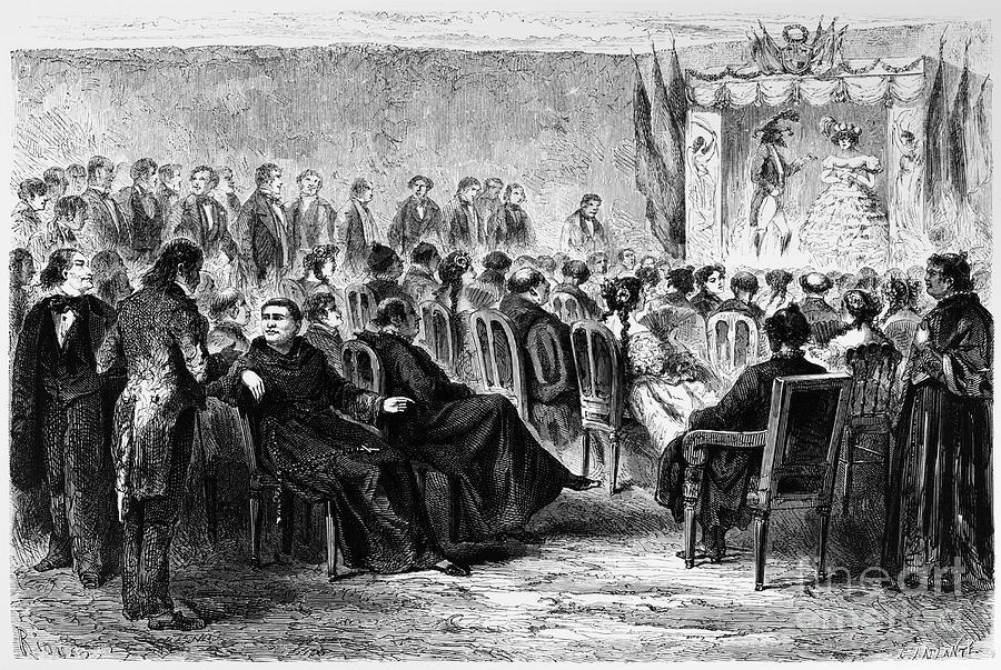 Peru: Theater, 1869 Photograph