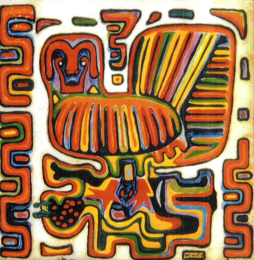 Peruvian Cuna Bird Design by Dy Witt : peruvian cuna bird design dy witt from fineartamerica.com size 882 x 900 jpeg 323kB