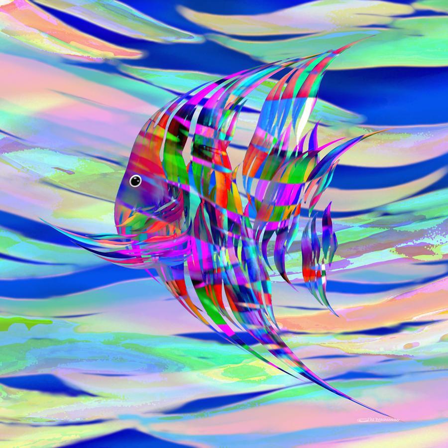 Fish Digital Art - Pescado Aqui by Wally Boggus