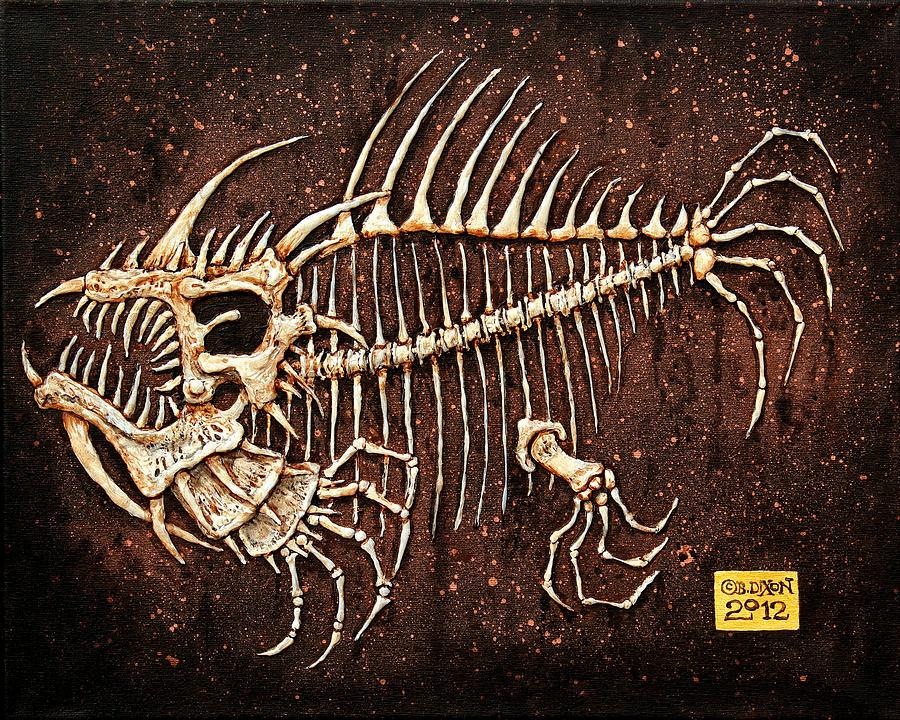 Prehistoric Painting - Pescado Seis by Baron Dixon