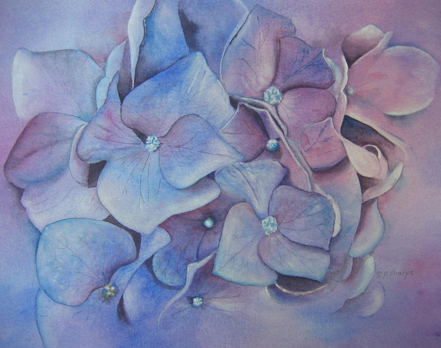 Close Focus Floral Painting - Petals by Patsy Sharpe