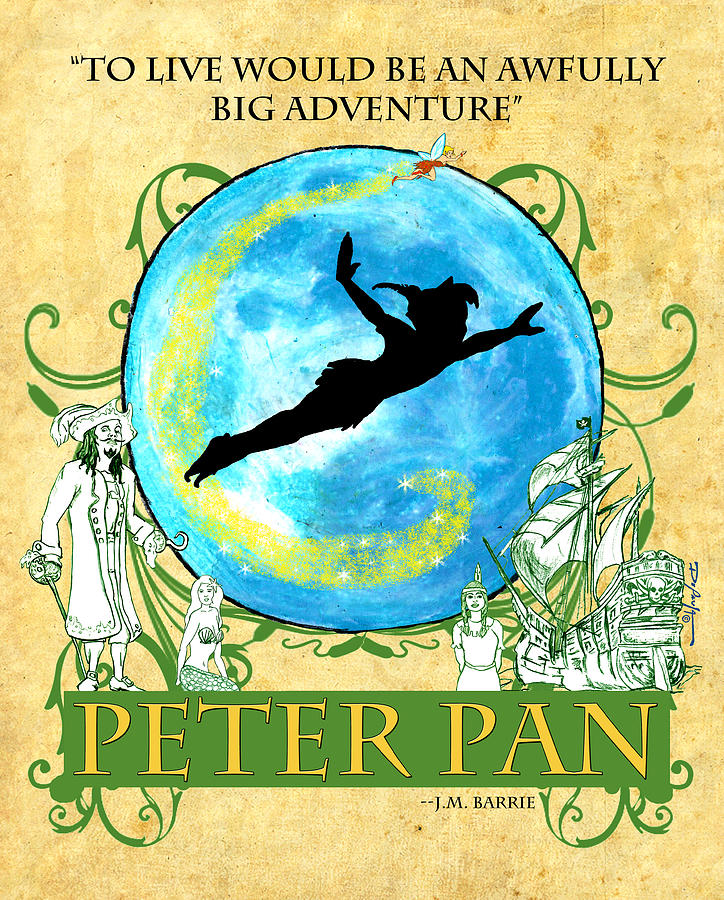 Peter Pan Tribute Digital Art
