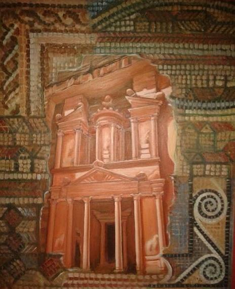Petra Painting - Petra by Izzeddin Elzoubi
