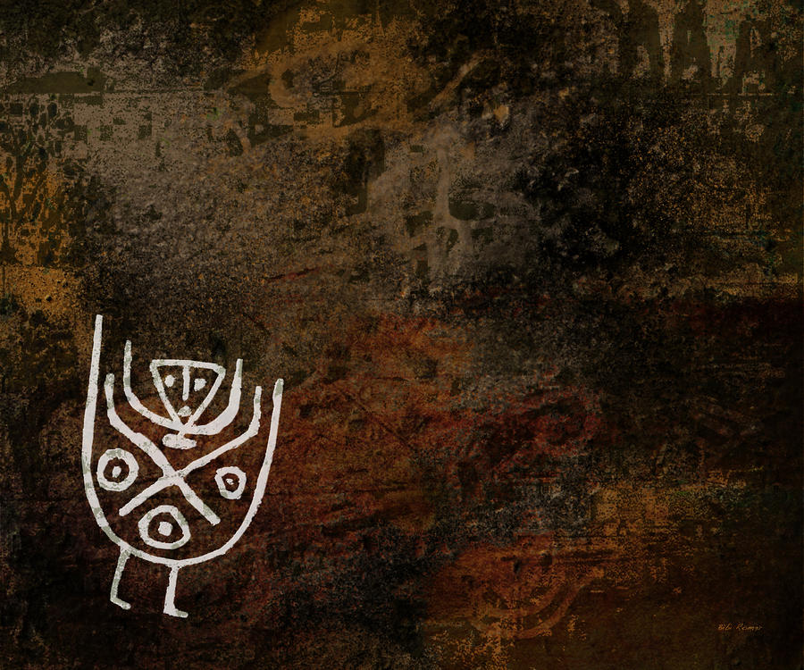 Petroglyph 7 Digital Art  - Petroglyph 7 Fine Art Print