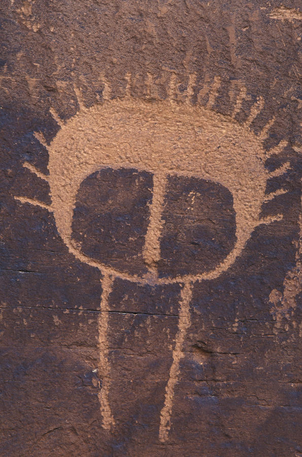Petroglyph Closeup Photograph