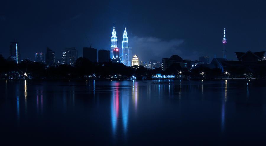 Petronas Towers Taken From Lake Titiwangsa In Kl Malaysia. Photograph