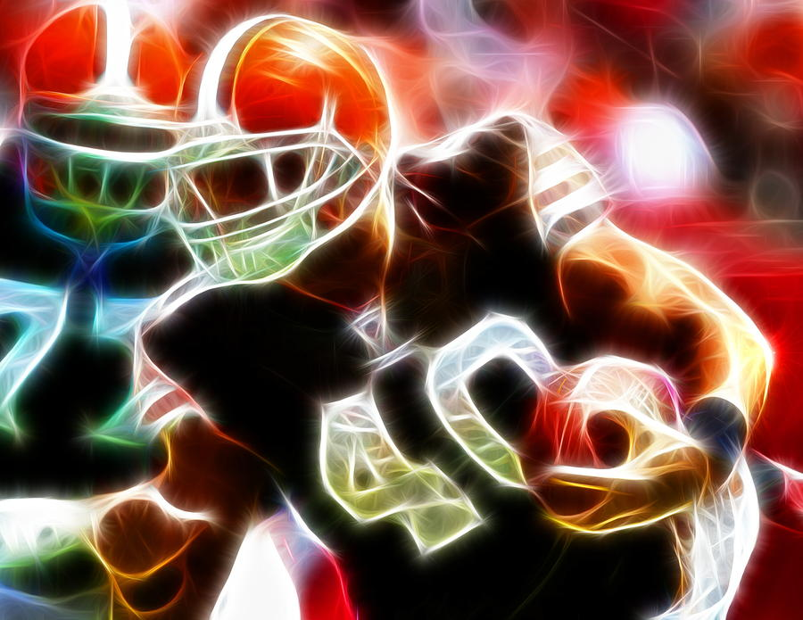Peyton Hillis Magical Painting  - Peyton Hillis Magical Fine Art Print